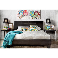 Furniture of America Adrano Espresso Leatherette Platform Bed