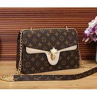 LV Popular Women Shopping Leather Metal Chain Shoulder Bag Crossbody Satchel