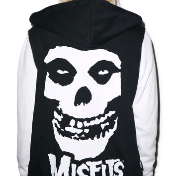 Iron Fist Misfit Varsity Jacket Black