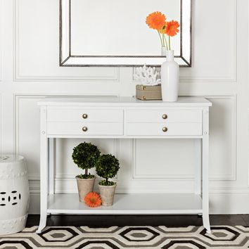 Abbyson Antoni Antiqued White Console Table | Overstock.com Shopping - The Best Deals on Coffee, Sofa & End Tables