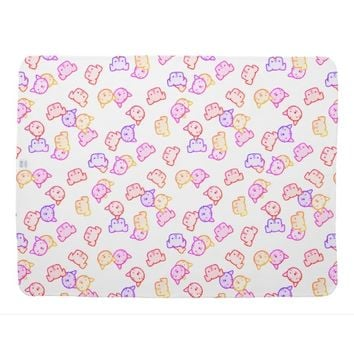 Rainbow Cats and Dogs Stroller Blanket