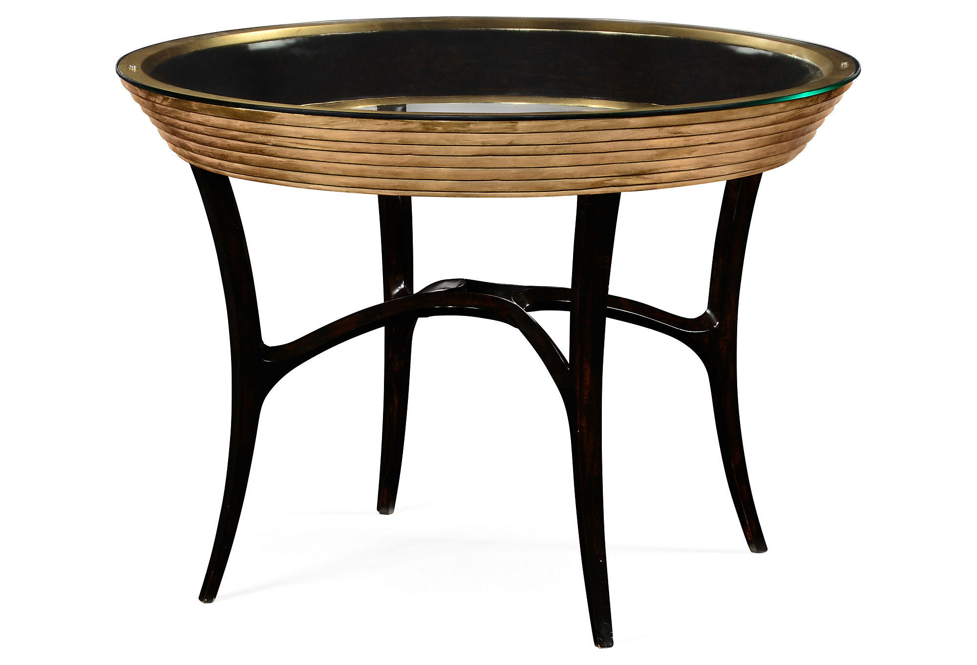 Evie 42 Round Centre Table Gold Coffee From One Kings Lane