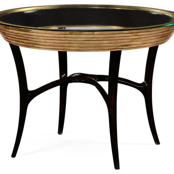 "Evie 42"" Round Centre Table, Gold, Cocktail Table, Coffee Table Base"