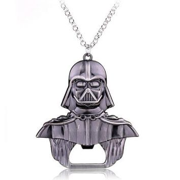 New Moive Star Wars Darth Vader Bar Beer Bottle Opener key chain Metal Alloy style The black knight Kitchen Tools for souvenirs