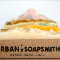 Your Choice of 3 Handcrafted Cold Process Soaps, Homemade Soap Set, Bath Soap Set, Handmade Soap, Father's Day Gifts