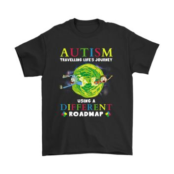 PEAPV4S Autism Travelling Life's Journey Using A Different Roadmap Shirts