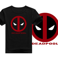 Fashion men's t-shirt cartoon Designed casual shirt superheroes Deadpool T shirt for men short sleeves clothes for men and women