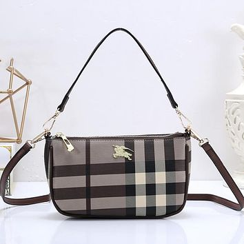 Burberry Fashion Leather Tote Crossbody Shoulder Bag Satchel
