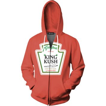 King Kush Zip Up Hoodie