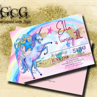Unicorn Invitation Rainbow invitation Magical Birthday Invitation Unicorn Birthday Invitation Rainbow Birthday Invitation Unicorn Party
