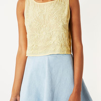 Casual Embroidered Crop Top - Tops - Clothing - Topshop USA