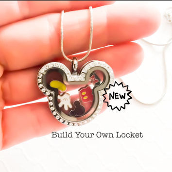Fish Extended Gift, Mickey Locket, Disney Gift, Mickey Mouse Jewelry, Xmas Gift, Disney Jewelry, Disney Cruise Gift, Mickey Mouse