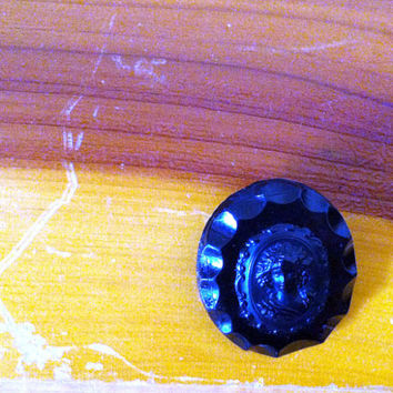 Black Cameo Pin by JezzyBelles on Etsy