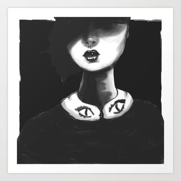 Contemporary Black and White Collar  Art Print by Ben Geiger