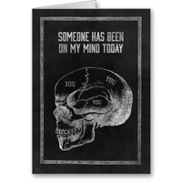 Skull Thinking of You Card