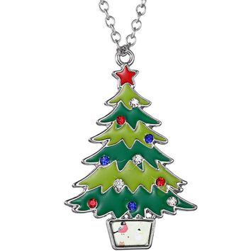 Merry Christmas Enamel Necklace
