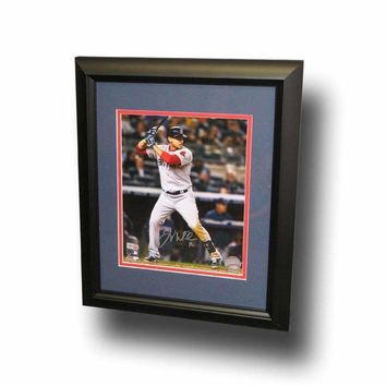Major League Baseball-Autographed Will Middlebrooks 8-by-10 Inch Framed Batting Photo