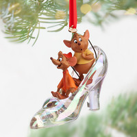 Disney Jaq and Gus with Cinderella Slipper Sketchbook Ornament | Disney Store