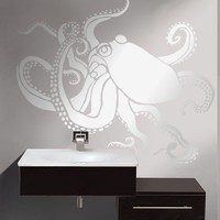 $44.95 OCTOPUS  Wall STENCIL Reusable  DIY Home by OliveLeafStencils