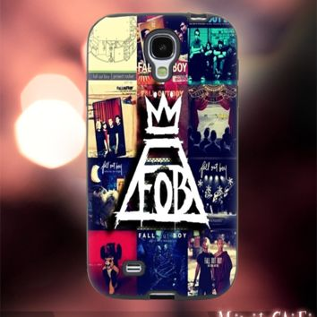 MC12Y,21,Fall Out Boy,Collage,almbum -Accessories case cellphone- Design for Samsung Galaxy S5 - Black case - Material Soft Rubber