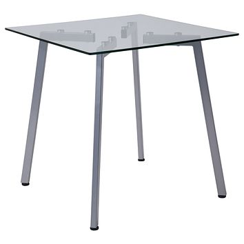 Roxbury Collection End Table with Metal Legs