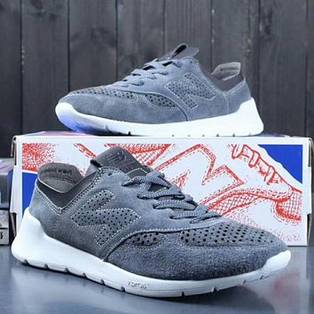 NEW BALANCE Women Men Casual Running Sport Shoes Sneakers Grey I-A0-YFY