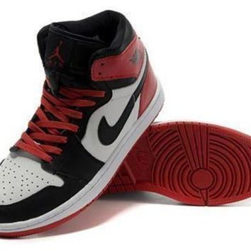Cheap Air Jordan 1 Retro Shoes Red Black White Online
