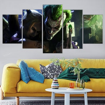 5 Pieces Canvas Art Joker Posters and Prints Modular Cuadros Decoration Oil Painting Home Decor Wall Pictures for Living Room
