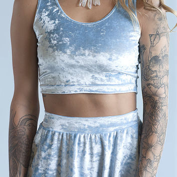 LAST ONE Sky Witch Sleeveless Crop Top (ready to ship)