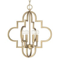 Capital Lighting Fixture Company 4541BG Ellis Brushed Gold 18-Inch Wide Four-Light Pendant