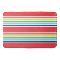 FIESTA and White Striped Bathroom Mat