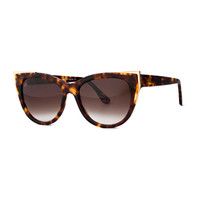 Thierry Lasry Epiphany Capped Cat-Eye Sunglasses, Havana