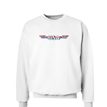 USA Stripes Vintage Sweatshirt