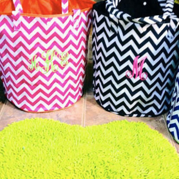 Shop Large Monogrammed Beach Totes on Wanelo