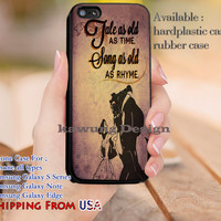 Tale as Old as Time Quotes iPhone 6s 6 6s+ 5c 5s Cases Samsung Galaxy s5 s6 Edge+ NOTE 5 4 3 #cartoon #disney #animated #BeautyAndTheBeast dl11