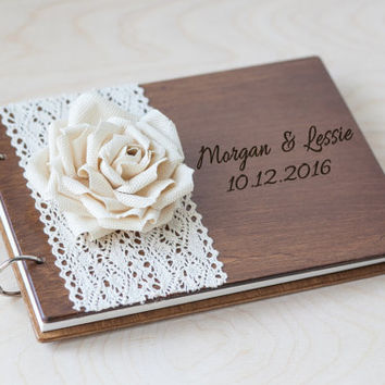 Wedding Guest book, Guest Book Frame, from woodlack on Etsy