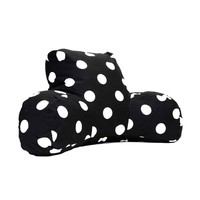 Printed Reading Pillow - Large Polka Dot - Black