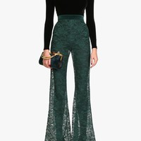 Balmain - Lace flared pants - Women's pants