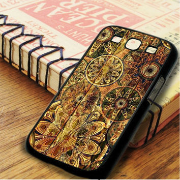 Wood Pattern Floral Samsung Galaxy S3 Case
