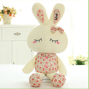 "11.5"" 28cm 1pcs Lot Metoo Love Rabbit Little Bunny Plush Toys Small Stuffed Animals Wedding Gift For Sale"