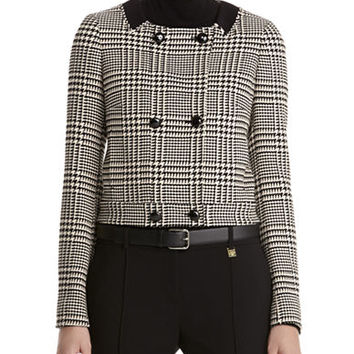 Anne Klein Petite Petite Double Breasted Cropped Jacket