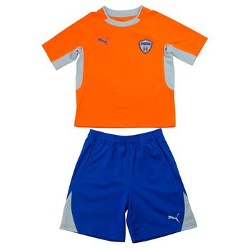 PUMA Colorblock Tee & Shorts Set - Toddler Boy, Size: