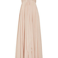 Marchesa|Off-the-shoulder embellished silk-chiffon gown|NET-A-PORTER.COM