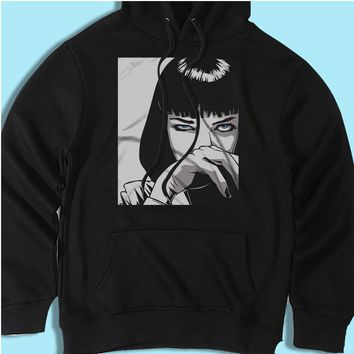 Mia Wallace Cocaine Blow Pulp Fiction Tarantino Cult Movie Men'S Hoodie