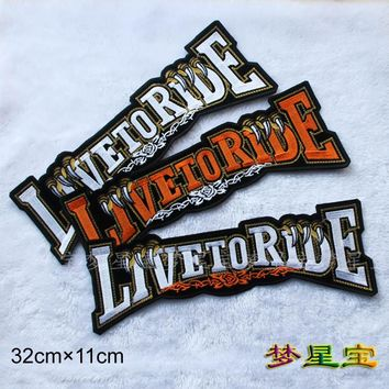 Embroidery twill Patches for Jacket Back Motorcycle Biker Eagle Claw Big Size 12.6 inch Iron on or Sew on