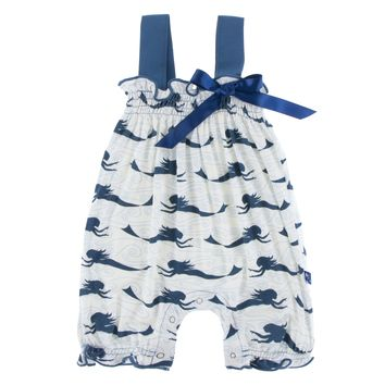 Kickee Pants Spring Anniversary Collection Print Gathered Romper with Bow