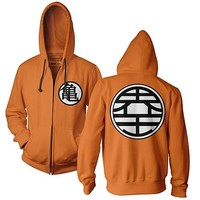 Dragon Ball Z Kame Symbol Orange Zip-Up Hoodie - Ripple Junction - Dragon Ball - Sweatshirts at Entertainment Earth