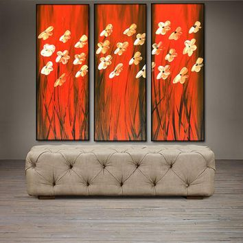 """'Floral VIII'-36"""" X 36"""" Original Abstract  Art.  Free-shipping within USA & 30 day return Policy."""