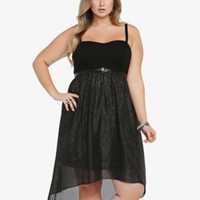 Sparkly Hi-Lo Sweetheart Dress