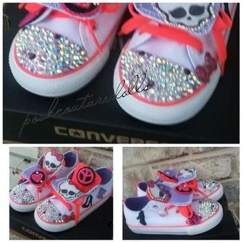 ONETOW monster high inspired custom converse